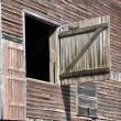 Closeup of old wood barn — Stock Photo