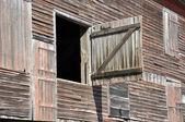 Closeup of old wood barn — Stock Photo