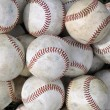 Pile of old baseballs — Stock Photo