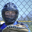 Young baseball catcher — Stock Photo