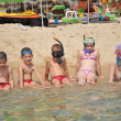 Happy children at the beach — Stock Photo #8338987