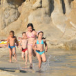 Stock Photo: Running Children on the Beach