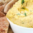 Stock Photo: Hummus And Pitbread