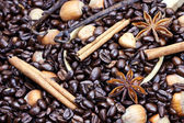 Gourmet Flavored Coffee Ingredients — Stock Photo