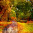 Landscape painting showing beautiful park in the autumn — Stock Photo #8233115