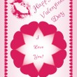Beautiful design for Valentines day, made of hearts, suitable for greeting — Stock Photo #8238083
