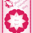 Beautiful design for Valentines day, made of hearts, suitable for greeting — Stock Photo