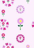 Beautiful seamless background in purple and pink tones made of flowers — Stock Photo