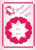 Mooi design voor valentijnsdag, gemaakt van harten, geschikt voor groet — Stockfoto
