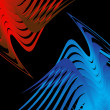 Abstract birds fighting - Foto de Stock