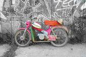 Vecchia moto — Foto Stock