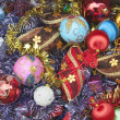 Christmas decorations before putting on the christmas tree - Stock Photo