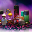 Collection of ladies perfumes — Stock Photo