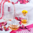 Stock Photo: Collection of ladies perfumes