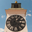 Tower clock on the sunny day — Stock Photo