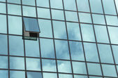 Open window on a big building — Stock Photo