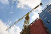 Crane at a building site — Stock Photo