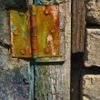 Stock Photo: Rusty detail of the very old door