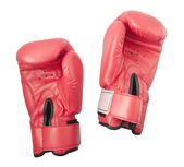 Red gloves for boxing or kick boxing isolated on the white background — Stock Photo