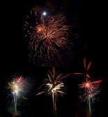 Beautiful colorful fireworks — Stock Photo