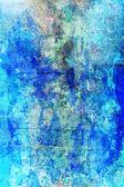 Podrobné grunge pozadí v modrých barvách — Stock fotografie