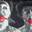 Stock Photo: Graffiti - two clowns