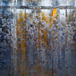 Abstract dark grunge background in orange, brown and blue tones — Foto de Stock
