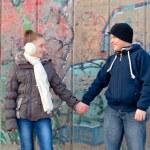 10 代の少年と少女の愛 — ストック写真