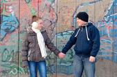 Teenage boy and girl in love — Stock Photo