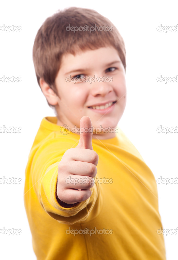 depositphotos 9529235 Handsome chubby teenage boy showing thumbs up isolated on white TLC will follow three women and their younger men ...