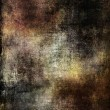 Dark, sinister grunge background in brown, black and green tones — Stock Photo
