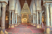 Prayer hall of the Great Mosque of Kairouan — Stock Photo
