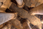Magnificent columns in Khnum temple,Egypt — Stock Photo