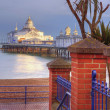 Stock Photo: Eastbourne pier basking in late afternoon sun