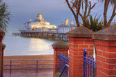 Eastbourne pier basking in late afternoon sun — Stock Photo
