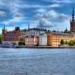 Stockholm waterfront — Stock Photo