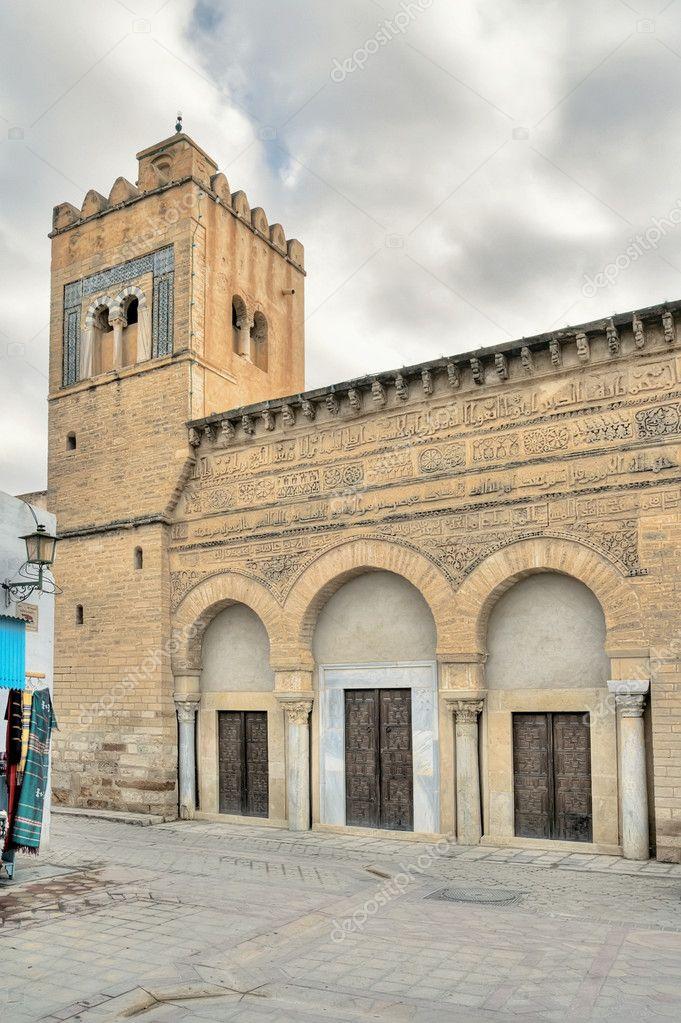 Tunisia Moschea Kairouan Doors in Kairouan Tunisia