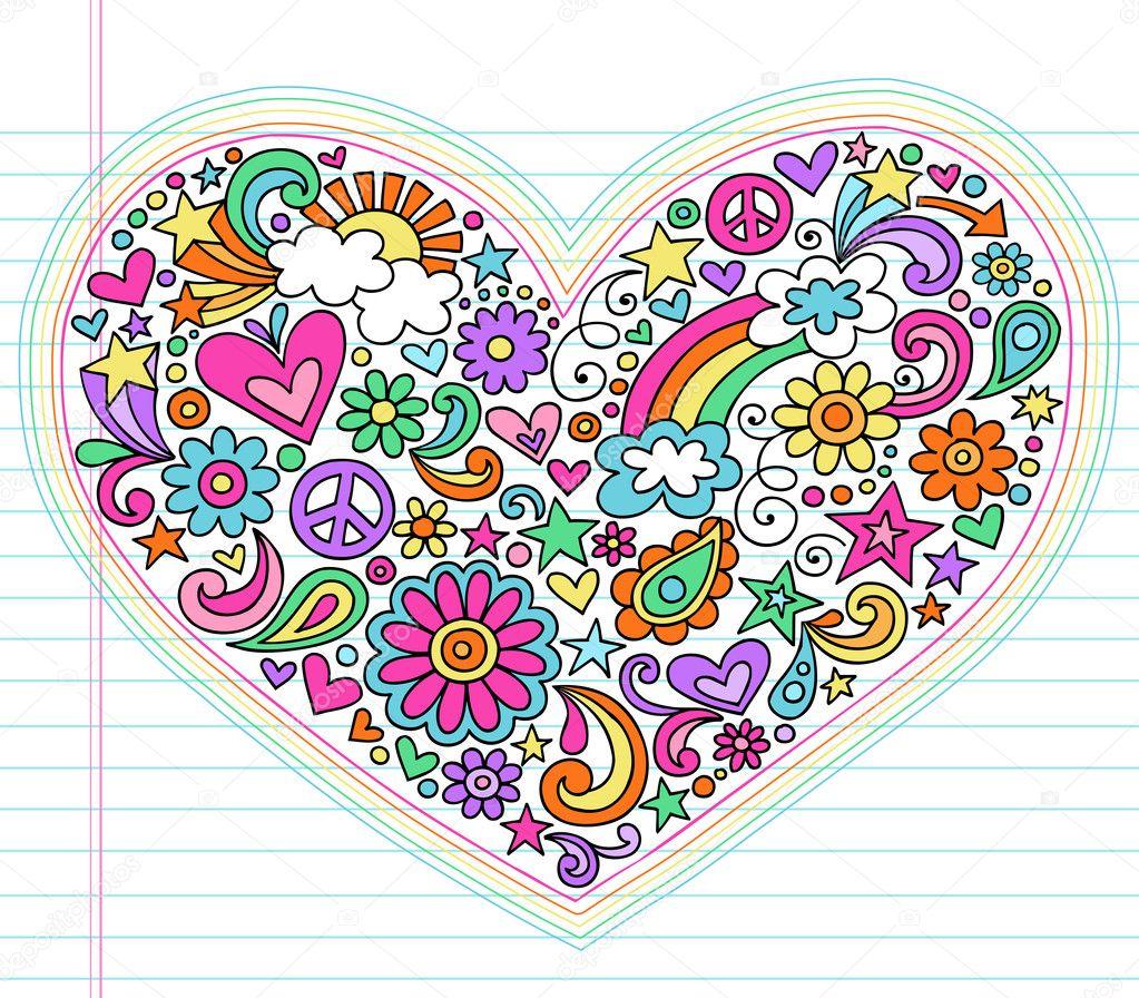 Doodle Designs Heart Doodle Design Elements Set