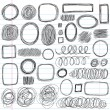 Sketchy Scribble Doodles Vector Design Elements — Stock Vector