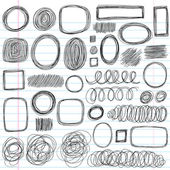 Sketchy Scribble Doodles Vector Design Elements — Stok Vektör
