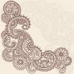 Henna Mehndi Pasiley Doodle Vector — Stock Vector #7991339