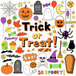 Royalty-Free Stock Vector Image: Halloween Notebook Doodles Vector Illustration Design Elements
