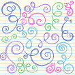 Sketchy Back to School Swirly Flourish Doodles — Stock Vector