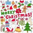 Royalty-Free Stock Vector Image: Merry Christmas Notebook Doodles Vector Illustration