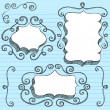 Royalty-Free Stock Vector Image: 3D Shape Frames Sketchy Back to School Doodles