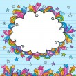 Clouds Sketchy Doodles Vector Illustration Page Border — Stock Vector #8247878