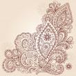 Henna Mehndi Paisley Flowers Doodle Vector Design — Stock Vector #8247927
