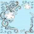 Clouds Sketchy Doodles Vector Illustration Page Border — Stock Vector #8248536