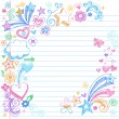 Back to School Sketchy Notebook Doodles Vector - Stock Vector