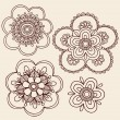 HennMehndi MandalFlowers Doodle Vector Design — Stock Vector #8248580